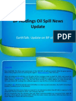 BP Holdings Oil Spill News Update