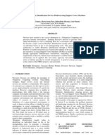 A Pervasive Biometric Identification Services Platform Using Support Vector Machines