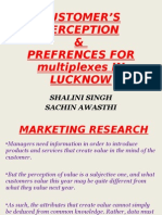 Customer Perception And Prefernces For The Multiplexes In Lucknow