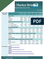 Weekly Market Briefing (June 3, 2013)