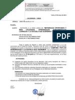 OFICIO MÚLTIPLE 061-2013-MINEDU-T   INVITACIÓN A LA FERIA LÚDICA DE MATERÍALES OPORTUNOS Y BIEN UTILIZADOS