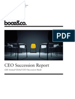 BoozCo CEO Succession Study 2011 Extended Study Report