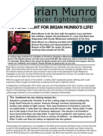 Brian Munro Cancer Fighting Fund Appeal