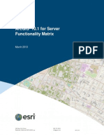 Arcgis Server Functionality Matrix