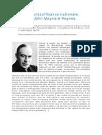 Keynes de l Autosuffisance Nationale