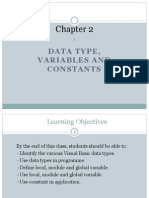 Data Type, Variables