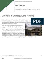 Cementerio de Binondo (La Loma Cemetery) _ Museo Santisima Trinidad