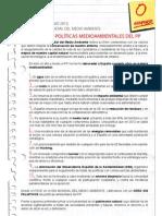 Manifiesto del PSOE con motivo del Día Mundial del Medio Ambiente 2013