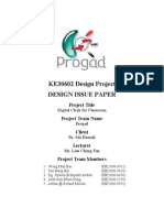 cover page for design issus