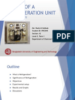 STUDY OF A REFRIGERATION UNIT