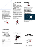 Fauquier H.S. Track Camp Brochure 20139
