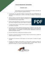 Ficha de Prevención Motosierras