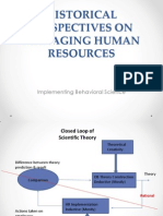 Historical Perspectives on Managing Human Resources