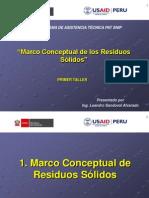 Marco Conceptual de Residuos Solidos Diplomado