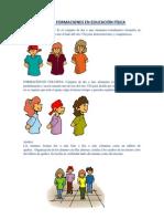 TIPOS DE FORMACIONES EN EDUCACIÓN FÍSICA