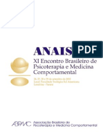 Anais Congresso Brasileiro de Medicina Do Comortamento