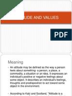 Attitude and Values