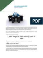 Cómo elegir un buen hosting para tu Web