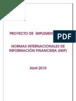 Proyecto Implementacion IFRS IRSA