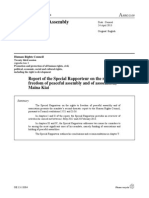 Report of the Special Rapporteur on the rights tofreedom of peaceful assembly and of association,Maina Kiai