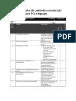 Sample Preventive Maintenance Task Sheet