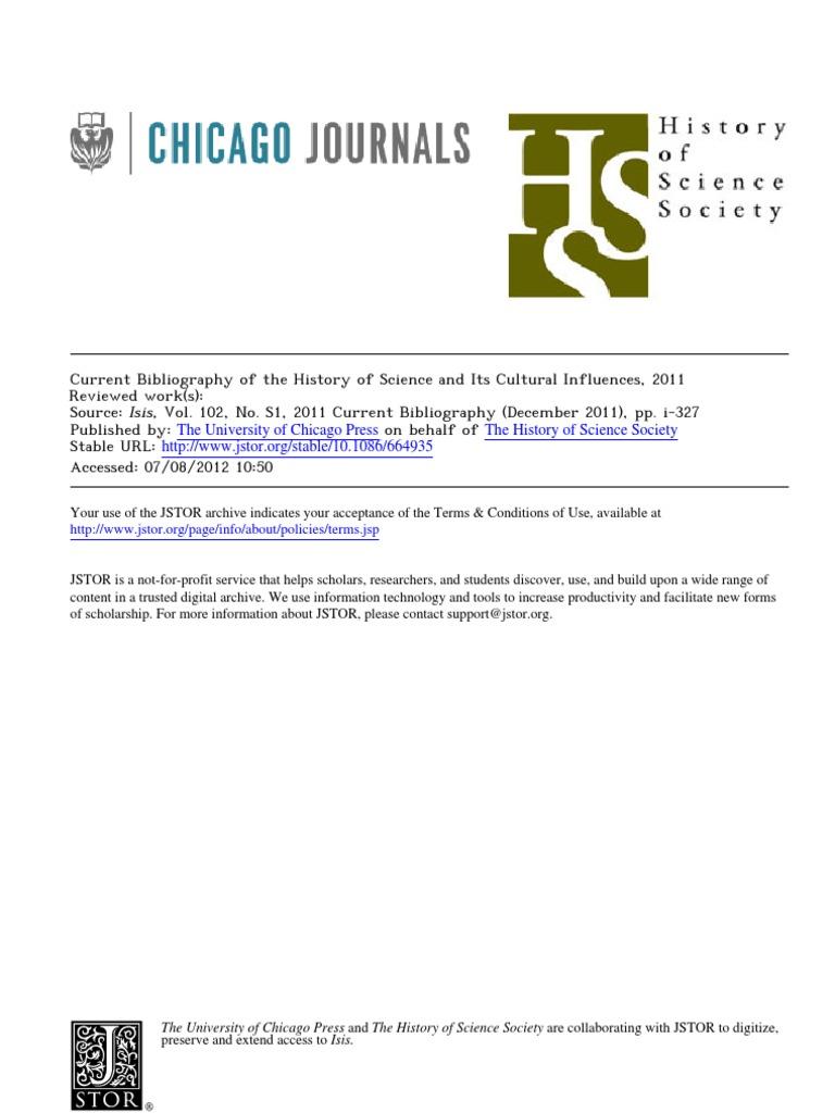 Bibliografia ISIS em Historia e cultura da ciência - 2011 ...