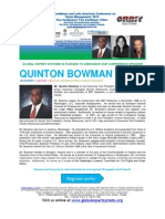 Caribbean & Latin American Conference on Talent Management 2013 BIO QUINTON BOWMAN