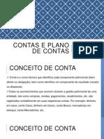 Contas e Plano de Contas