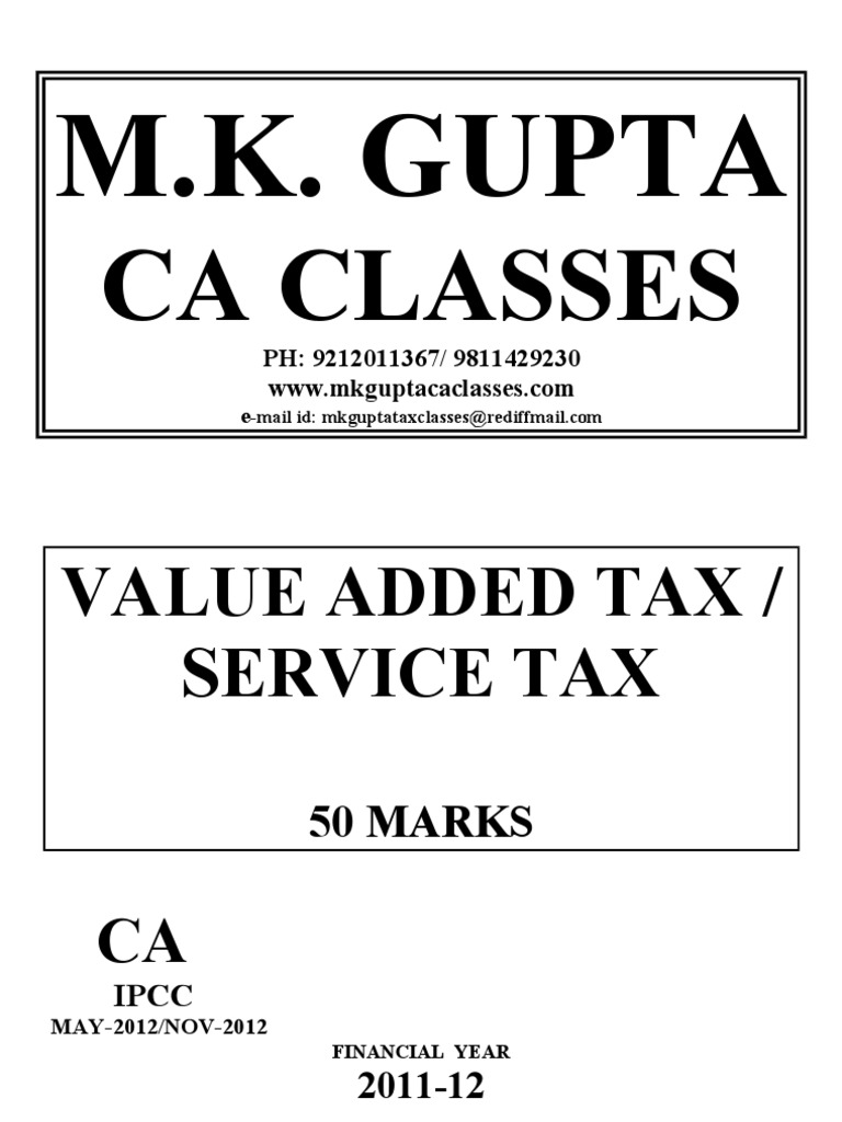 service taxvat | Value Added Tax | Taxes