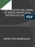 Construccion Del Canal de Riego