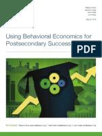 Using Behavioral Economics for Postsecondary Success