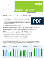 SEB Interim Report January-June 2008
