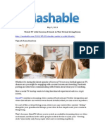 Mashable, May 9, 2013, SimulTV