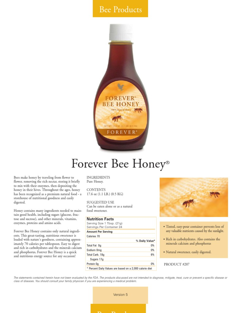 Manual of Forever Living Products | Probiotic | Honey Bee