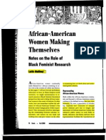 The Role of Black Feminist Research