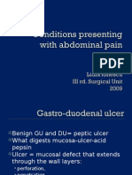Conditions Presenting With Abdominal Pain