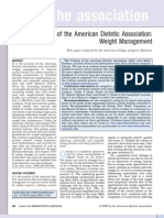 American Dietetic Association - Weight Management Position Paper