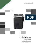 Bizhub 215 Ug Copy Operations en 1 1 0