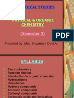 Syllabus Physical & Organic Chem. - Pre-Med (Sem.2)