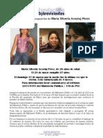Desaparición María Silveria Aceytuj Pérez