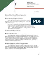 FAQS on 501c4's