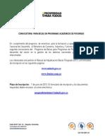 Convocatoria Becas Posgrado 2013-x