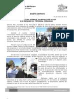 16/01/12 Germán Tenorio Vasconcelos da Secretario de Salud Banderazo de Salida Al Programa de Caravanas