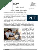 30/01/12 Germán Tenorio Vasconcelos entrega Sso Cloro y Plata Coloidal a 21 Municipios de Valles Centrales
