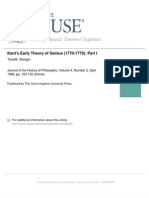 Kant's Early Theory of Genius- Tonelli