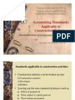 Accounting Standard Applicable to Construction Industry