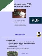 Tarjeta entrenadora para FPGA basada en Hardware abierto. Transparencias
