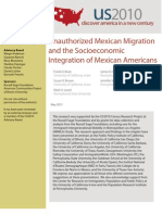 Unauthorized Mexican Migration and the Socioeconomic Integration of Mexican Americans