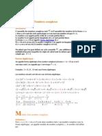 Nombres Complexes Cours 3 4docx 5