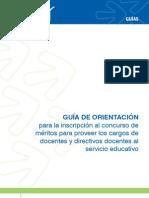 Guía de orientacion para inscripcion al concurso docentes 2